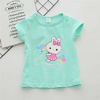 Baby Girl T Shirts Tops Cotton Shorts Casual Summer Clothes Birthday