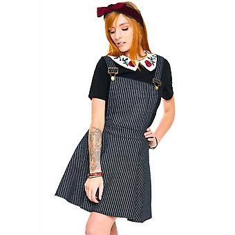 Jawbreaker Clothing Over It All Pinstripe Overall Dress