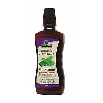 Nature's Answer Essential Oil Mouthwash, Peppermint 16 Oz