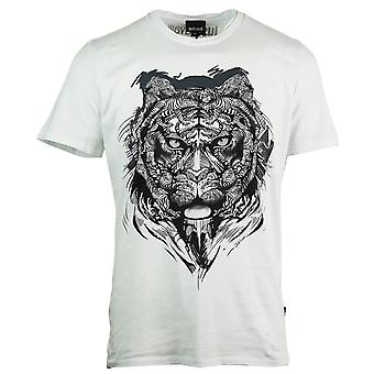 Just Cavalli Lion Print White T-Shirt