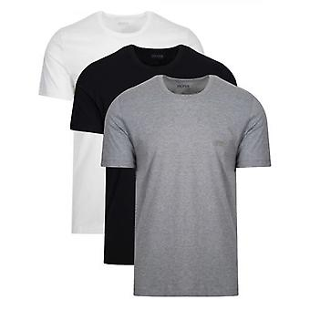 BOSS Multi Coloured Three Pack Crew Neck T Shirt