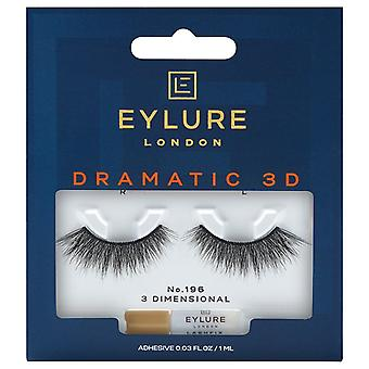 Eylure Dramatic 3D Strip Lashes - No 196 - Light Strands with Feathery Finish