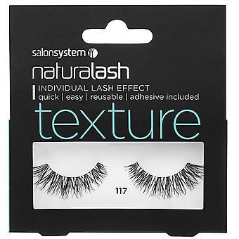 Salon System  Naturalash - Texture - No 117 Reusable Eyelashes - (adhesive Included)