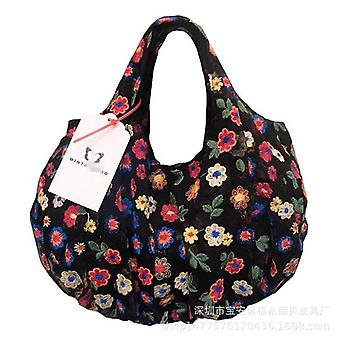 Korean  Organza Embroidery Colorful Flowers Hand Bags & Shoes  Other Bags