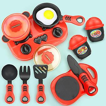 Miniature Kitchen Set - Pretend Play Food, Cookware, Pot Pan Cooking Play House