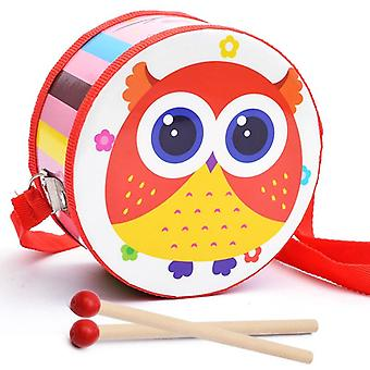 Wooden, Double-sided Hand Drum Toy