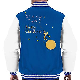 The Little Prince Christmas Flying With Birds Men's Varsity Jacket