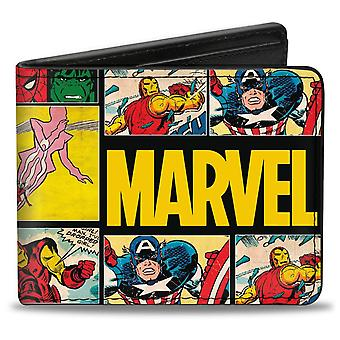 Marvel Comics Retro Panel Bi Fold Wallet