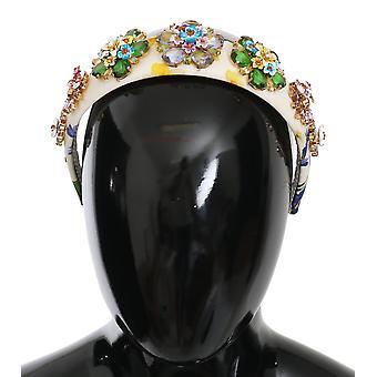 flerfarget floral krystall diadem kvinner tiara hodebånd