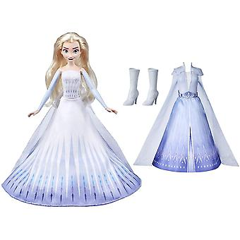 Disney Frozen 2 Doll Elsas Transformation With 2 Outfits And 2 Hair Styles