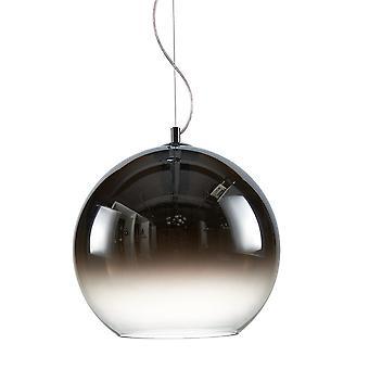 Italux Namelo - moderne hängende Anhänger Chrom 1 Licht mit Rauch Chrom Schatten, E27