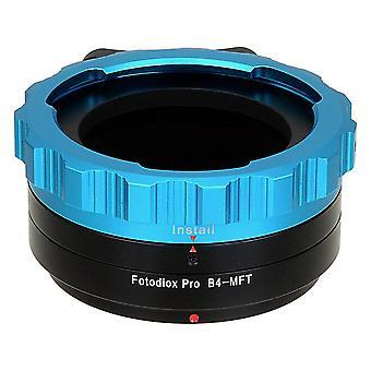 "Fotodiox pro lens mount adapter, b4 (2/3"") lens to micro four thirds (m 4/3, mft) camera body, for o"