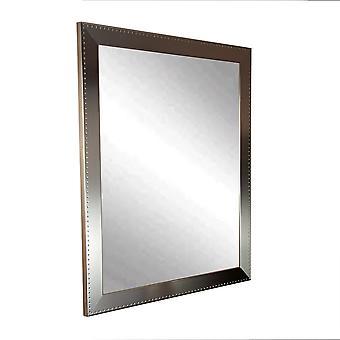 Embossed Silver Framed Vanity Wall Mirror 30''X 34''