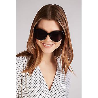 Louche Womens Lilly Round Cat Eye Sunglasses Black