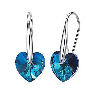 Kristallen Bermuda Blue Hook Drop Oorbel