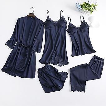 Robe Set Women Sleepwear Nightgown New Nightwear Gown Intimate Lingerie Lace
