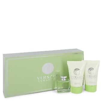 Versace Versense Gift Set By Versace 0.17 oz EDT  + .8 oz Shower Gel + .8 oz Body Lotion