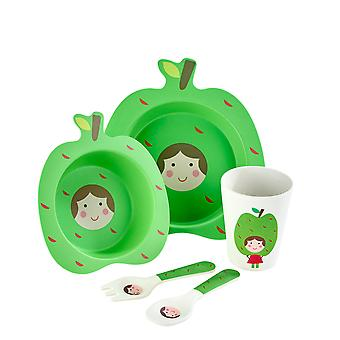 Arthur Preis Kinder Bambus 5 Stück Set, Apple