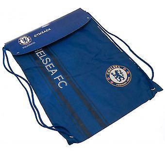 Chelsea FC Striped Drawstring Bag