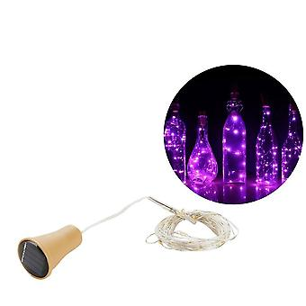 סולרי מופעל בקבוק יין פקק בצורת, אור חוט נחושת LED