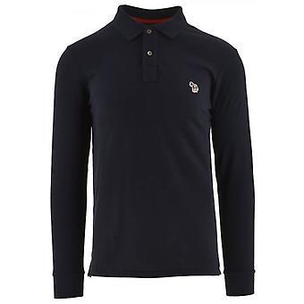 Paul Smith camiseta polo de manga larga de ajuste regular en azul marino
