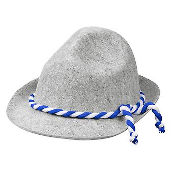 Hat Tyrolean With Cord 28 X 13 Cm Polyester Grey