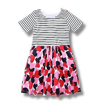 Party-Kleid, Herzen und Streifen Design, Kleinkind