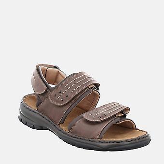 Firenze 01 moro - josef seibel brun tan læder gå sandaler
