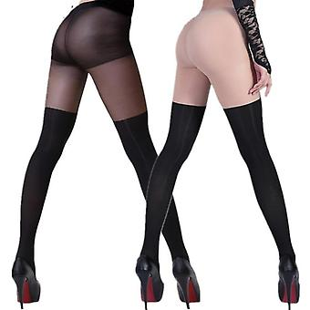 Tinted Sheer False High Stocking Pantyhose Tattoo Tight