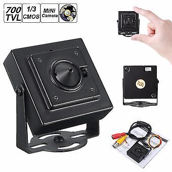 "Mini Pinhole HD 700TVL 1/3 3.7mm Wide Angle Board Lens CCTV Security PAL Camera"""