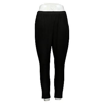 Women with Control Petite Leggings Fit Pull-On Knit Black A235952