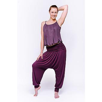 Comfort Flow Yoga Pants - Plum, Harem, Viscose
