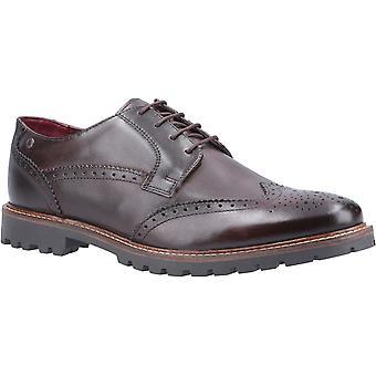 Base Grundy Washed Mens Formal Shoes Brown UK Size