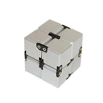 høy tekstur uendelig aluminiumslegering rubik & apos; s kube