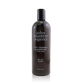 2 In 1 shampoo & conditioner for dry scalp with zinc & sage 260297 473ml/16oz