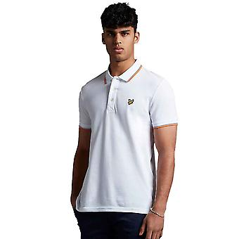 Lyle & Scott Tipped Polo Shirt - White/Melon