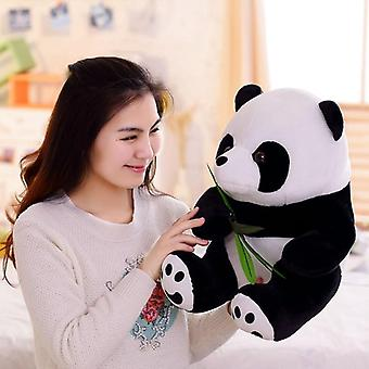 Funny Panda With Bamboo Leaves Plush