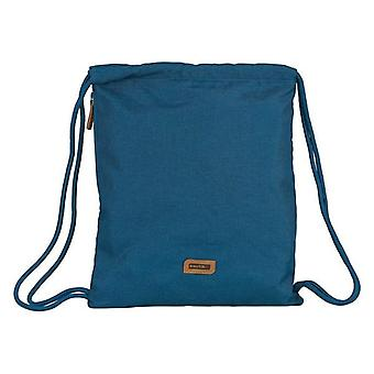 Backpack with strings safta navy blue