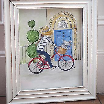 """Hettie art print """" Out for a spin """""""