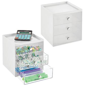 mDesign Plastic Home Office Desk Organizer Aufbewahrungsstation, 2 Erpack