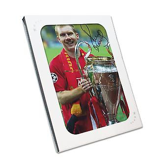 Paul Scholes Signed Manchester United Photo: Champions League Winner. In Gift Box