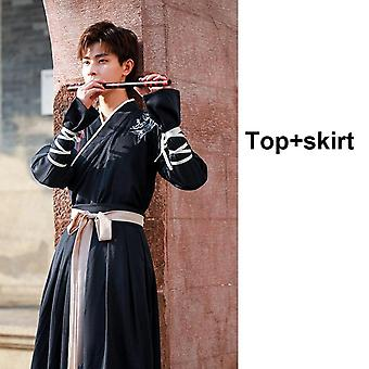 Dragon Embroidery Women, Dress Men Samurai Costume, Cosplay Cardigan,