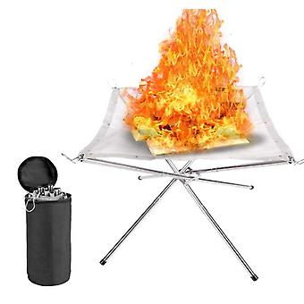 Portable Fire Pit Outdoor Fireplace With Carrying Bag For Travel Camping And Backyard