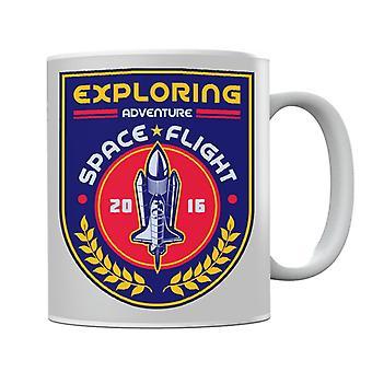 NASA Exploring Adventure Space Flight Mug