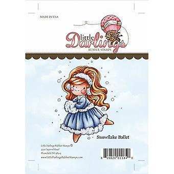 Little Darlings Stamp - Snowflake Ballet