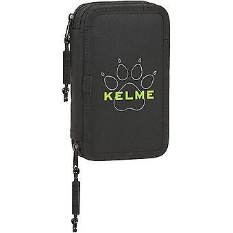Double Pencil Case Kelme Black (28 pcs)
