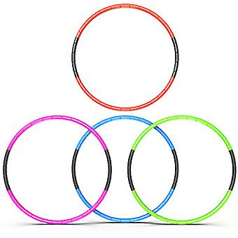 8 Knots Collapsible Hula Hoop 70cm Fitness Exercise Gym Workout Hoola for Children