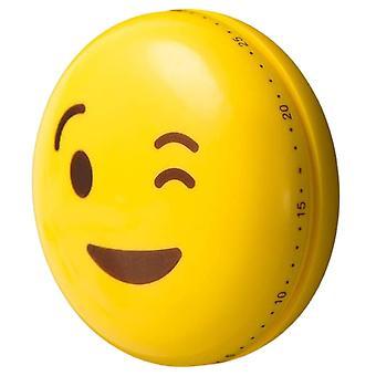kochtimer magnetic emoji wink 6 cm ABS yellow