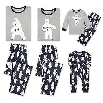 Joulu perhe pyjamasetti, jouluvaatteet vanhempien ja lasten puku