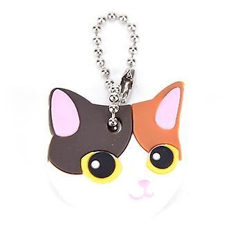 Lovely Animals Head Shape Silicone Key Ring